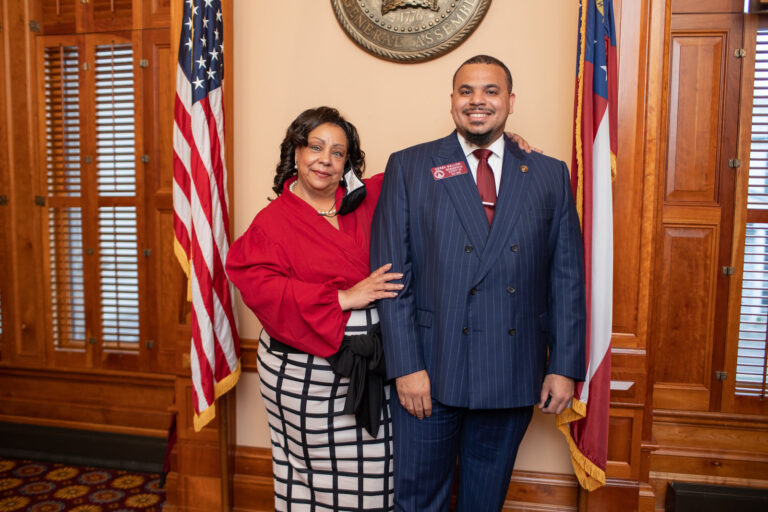 Rep. Angela Moore with Rep. Mallow